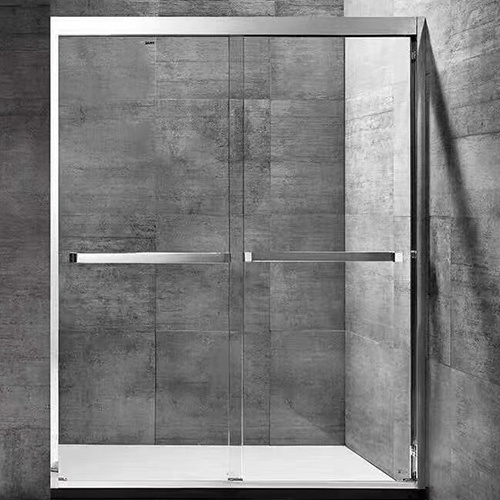 Frame Polished Chrome Glass Shower Enclosure for Hospitality Properties