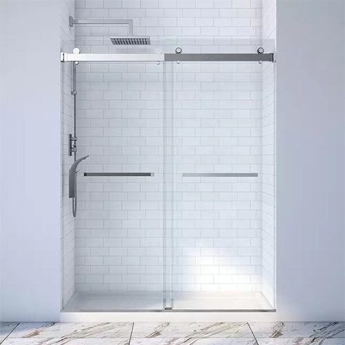 Barn Door Style Glass Shower Door