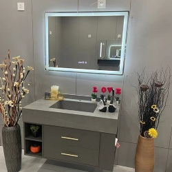 Bath Vanities with LED Mirror for Apartment and Condo Project