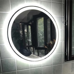 Round Side Lighted LED Backlit Bath Vanity Mirror