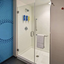 Glass Shower Door for Hotel Tru by Hilton